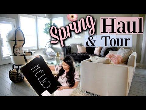 Spring Decor Haul &  Blush Living Room Tour! MissLizHeart