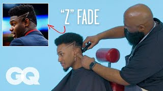 """Zion Williamson's """"Z"""" Fade Haircut Recreated by a Master Barber 