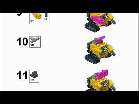 LEGO Mini-Build: Wall-E Robot. Custom