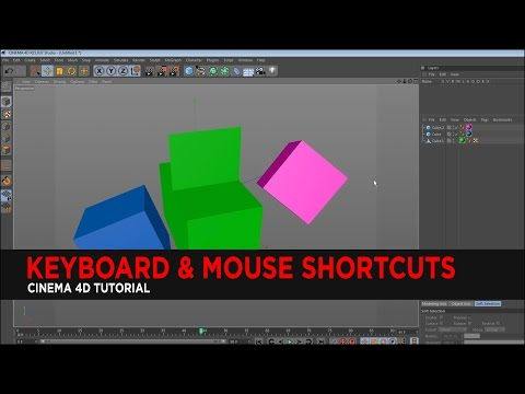 Keyboard & Mouse Shortcuts in Cinema 4D : Tutorial