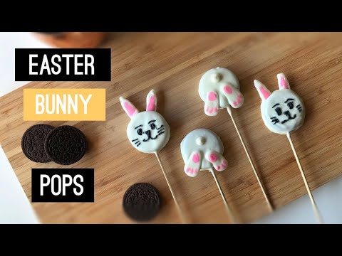 How to Make Easter Bunny Oreo Pops - SUPER EASY Tutorial