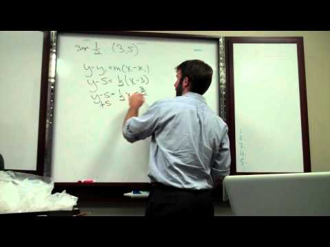 Equation of a Line   Point & Slope