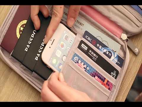 VanFn RFID Travel Passport Wallet