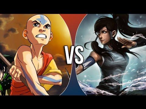 Aang vs Korra [AVATAR RAP BATTLE] - VidoEmo - Emotional ...  Aang vs Korra [...