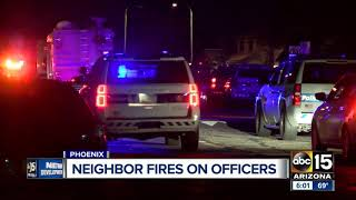 Man shot after pointing a gun at Phoenix police during arrest