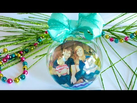 Easy Transparency Photo Ornaments