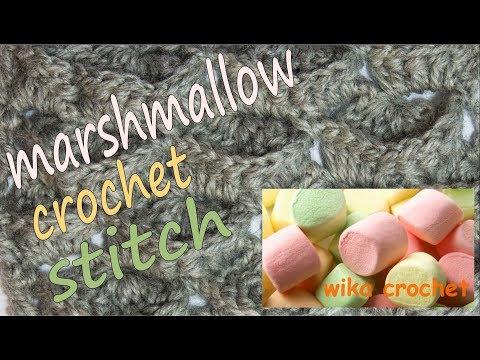 Crochet marshmallow stitch Wika crochet