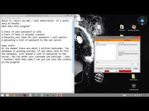 MD5 / SHA1 Cracker - Generater - Checker