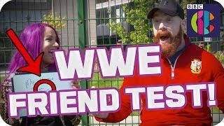 WWE Superstars Sasha Banks and Sheamus take the friend test