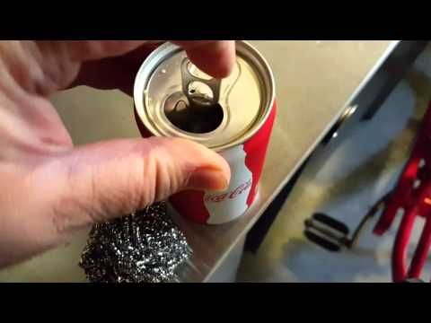 Removing rust from a bike using Coke & steel wool