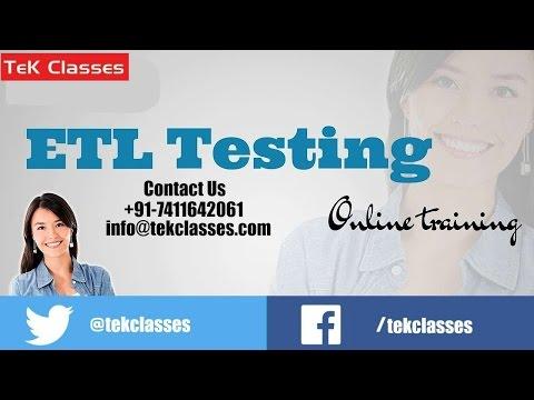 ETL Testing online training Demo class | ETL Testing Tutorials | ETL Testing Training Videos