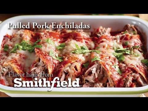 Smithfield Pulled Pork Enchiladas