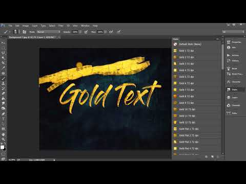 Metallic Gold Photoshop Effects FREE DOWNLOAD