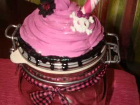 fake cupcake canister jar