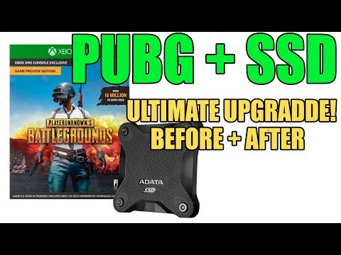 PUBG xbox using SSD - ULTIMATE upgrade - More chicken dinners!