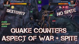 Quake counters Aspect of War and Spite HARD - No Power Gain! Marvel Contest of Champions
