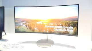 CES 2017 - Samsung Quantum Dot Monitors with Invisible Connection