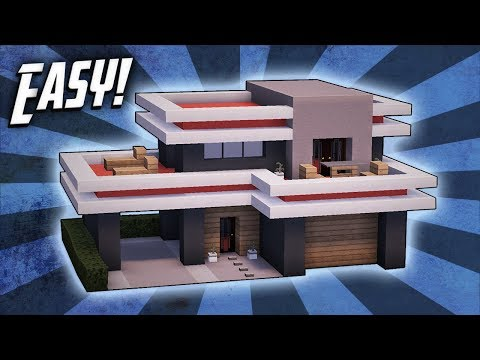Minecraft: How To Build A Small Modern House Tutorial (#24)