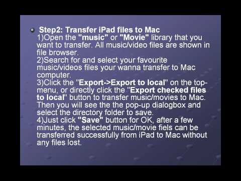 How to transfer files from iPad to Mac