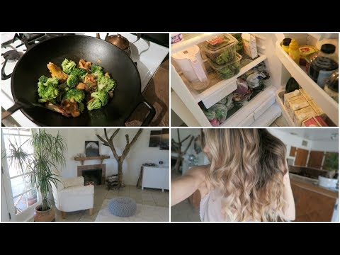 Vlog | Kitchen Storage & Organizing | Haircut & Balayage