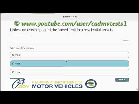 2018, California DMV permit test in English ( 100% correct)