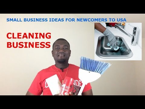 SMALL BUSINESS IDEAS FOR NEWCOMERS TO USA (HOW TO START CLEANING BUSINESS)