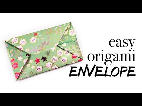Easy Origami Envelope Tutorial ♥︎ DIY ♥︎
