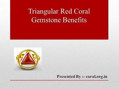 Triangular Red Coral Gemstone Benefits