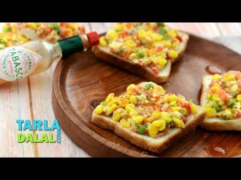 Grilled Corn Toast by Trala Dalal