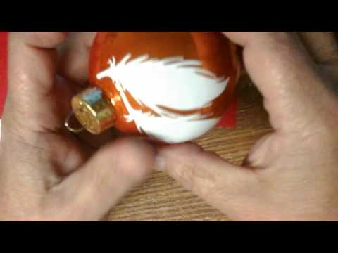 How to wrap vinyl on a glass ornament