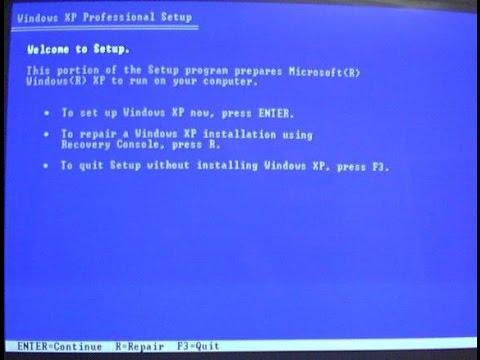 Windows XP Startup Repair - How to Get Windows XP to Boot Again