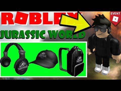 ROBLOX JURASSIC WORLD EVENT - HOW TO GET ALL THE ITEMS + MAKE A GOOD AVATAR !