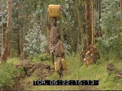 Rural Rwanda - Water Carriers - Village Life - 2002