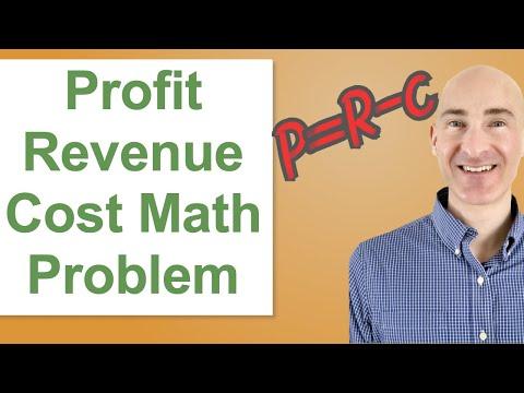 Profit, Revenue, and Cost Math Problem