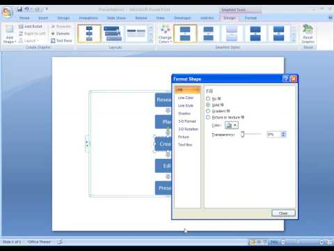 Office 2007 Demo: Create a flow chart