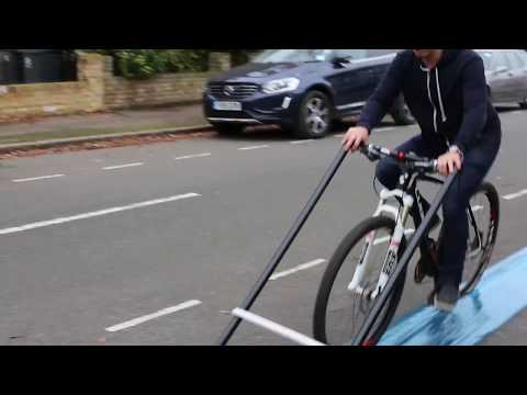 This bike lays its own cycle lane!