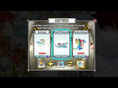 DEUS VAULT Dragon City FORMULAS for Great White Dragon and Two Headed Dragon