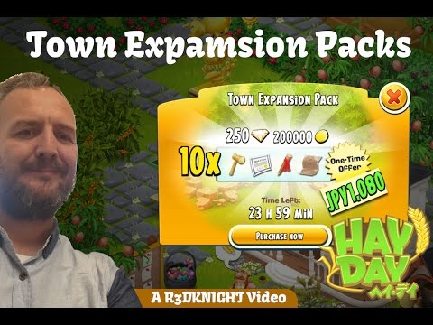 Hay Day - Town Expansion Pack - Diamonds, Expansion Materials, Gold