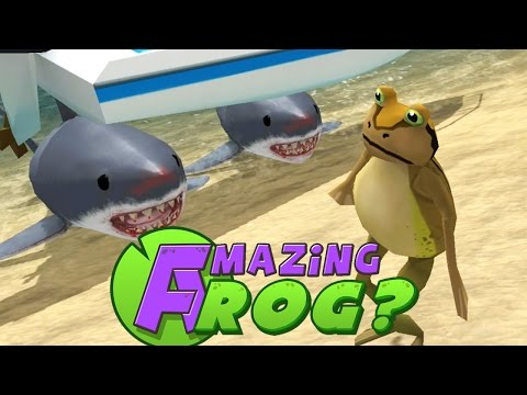 Amazing Frog - BLOODTHIRSTY SHARKS! - PC Gameplay Part 3