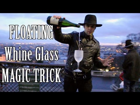 Floating wine Glass trick 🍷 - Julien Magic