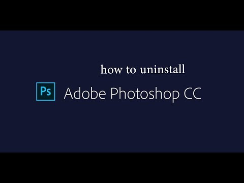 how to uninstall Adobe  Photoshop