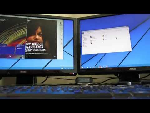 Windows 10 - Snap, Desktops, and Multi-Monitor