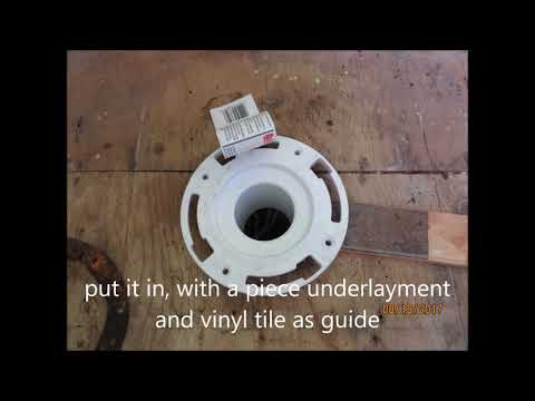 How to Repair And Lower a broken Toilet ABS Flange