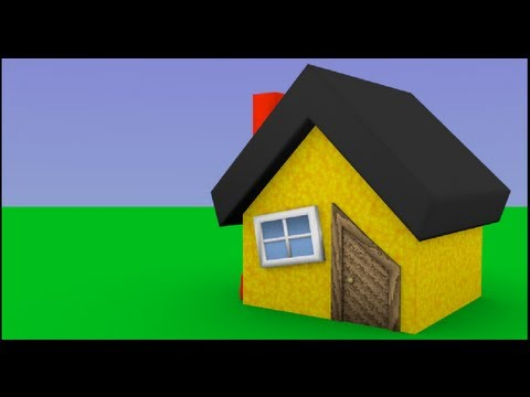 Byteweiser Blender Tutorial #1c: Make a Low Poly Cartoon House (Window and Chimney)