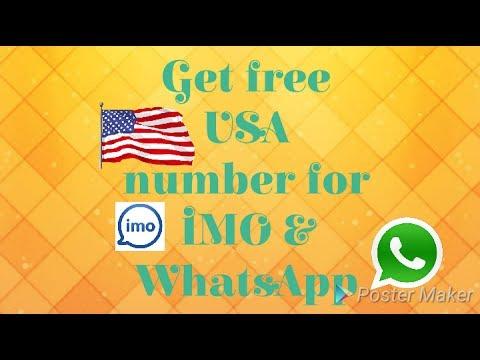 Get free USA number for IMO &WhatsApp