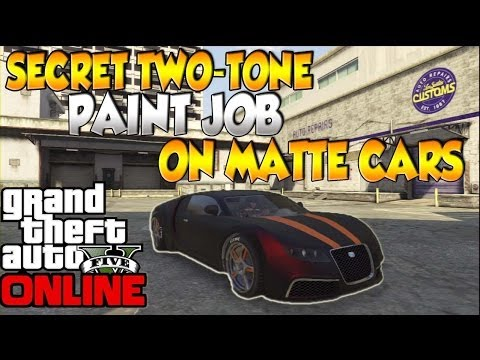 GTA V Online: Secret Paint Job/ Two-Tone paint on Matte Finish Car [EASY]