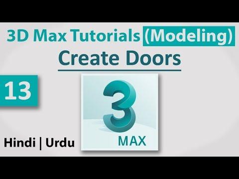 13-Create Doors || 3D Max Full Modeling Tutorials in Hindi | Urdu
