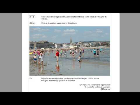 AQA English Language Paper 1 Section B: Creative Writing