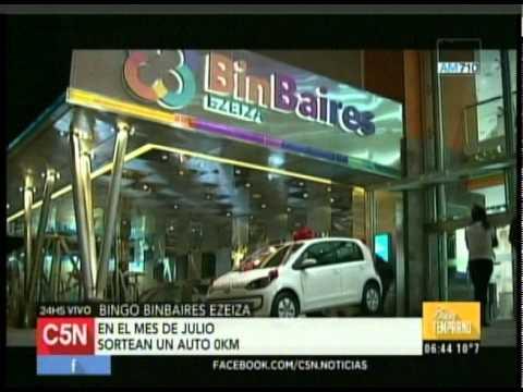 C5N - SOCIEDAD: SORTEO DE UN AUTO 0 KILOMETRO EN BINGO BINBAIRES EZEIZA
