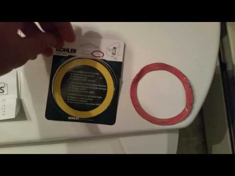 DIY HOW TO REPLACE KOHLER TOILET WATER TANK CANISTER SEAL PART GP1059291